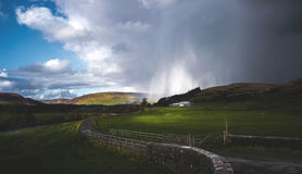 Light in the Storm in the Trough of Bowland Stock Photo