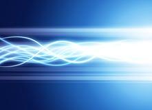 Light strands on blue Stock Photos