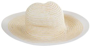 Light straw hat. side view. Light straw hat isolated on white background and PNG file with transparent background. side view stock photo