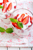 Light strawberry dessert Royalty Free Stock Photography