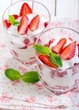 Light strawberry dessert Royalty Free Stock Photos
