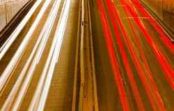 Light streaks Royalty Free Stock Images