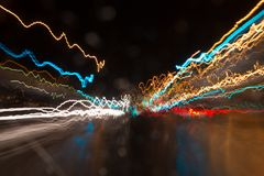 Light streaks. Abstract speed colour Light streaks Royalty Free Stock Image