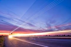 Light streaks traffic Stock Images