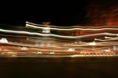 Light Stream. Passing traffic at night, streams of light royalty free stock images