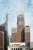 The 10 Light Street building, in downtown Baltimore, Maryland.  royalty free stock images