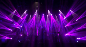 Light striking a rock concert Royalty Free Stock Photo