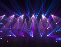 Light striking a rock concert Stock Image