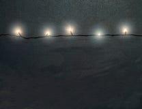 Christmas Lights On Concrete Wall : Light String Borders/eps Royalty Free Stock Image - Image: 852616