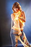 Light string jean Royalty Free Stock Images