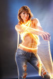 Light string jean Stock Image