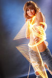 Light string jean Royalty Free Stock Photos
