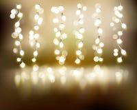 Light strings. Vector illustration. Stock Image