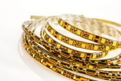 Light strip with one and three SMD LED chips. For bonding Stock Photography