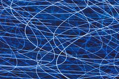 Light striped trails with chaotic motion. Light striped trails with multitude of chaotic motion Stock Image