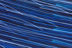Light striped trails with chaotic motion. Light striped trails with multitude of chaotic motion Royalty Free Stock Photos