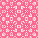 Light summer  seamless pattern. Fond pink, white Stock Photo