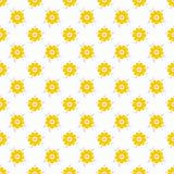 Light summer  seamless pattern. Fond white Stock Photography