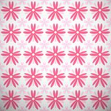 Light summer vector pattern (tiling). Fond pink Stock Photo