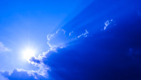 Light of the sun. And cloud Royalty Free Stock Photography
