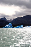 Light sun and ice. Ice floating in a lake, patagonia , argentina Royalty Free Stock Photos