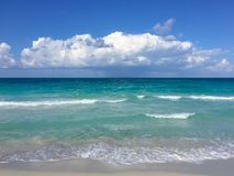 Light surf on the Atlantic coast, Cuba, Varadero Stock Images