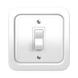 Light switch. Object on white background Royalty Free Stock Photos