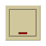 Light switch. Beige light switch on a white background Royalty Free Stock Images