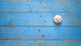 Light switch on blue wood wall, Stock Images