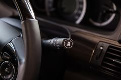 Light switch control in car Stock Photo