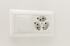 Light switch and electrical outlet Royalty Free Stock Photography