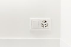 Light switch and electrical outlet Royalty Free Stock Image