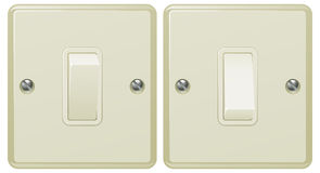 Light switch illustration Royalty Free Stock Image