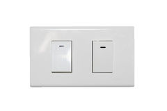 Light switch isolate Royalty Free Stock Image