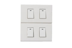 Light switch isolate Royalty Free Stock Photography