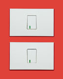 Light switch on-off Royalty Free Stock Photography