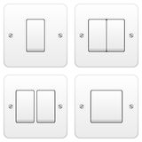 Light Switch Set Royalty Free Stock Photography