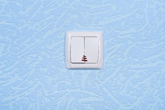 Light switch on the wall Royalty Free Stock Photography