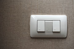 Light switch. On the wall royalty free stock images