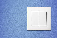 Light switch. On a wall Stock Image