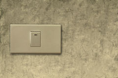 Light switch on wall Stock Images