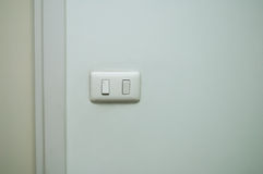 Light Switch on the wall Royalty Free Stock Images