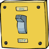 Light switch royalty free illustration