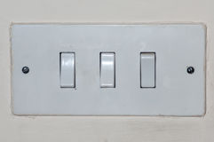 Light switches. Electric light switches in a family home royalty free stock images