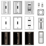Light switches and faceplates Stock Photo