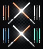 Light swords. Star war. Laser weapons, laser sword, neon sword Royalty Free Stock Photography