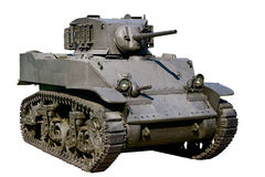 Light tank Stuart isolated Royalty Free Stock Photo
