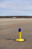 Light on taxiway Royalty Free Stock Photo