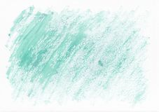 Light teal dry horizontal watercolor hand drawn background. Beautiful diagonal hard strokes of the paint brush. vector illustration