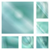 Light teal gradient abstract background set Stock Photos